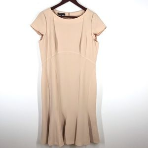 Lafayette 148 Light Tan Pink Swing Dress size 12